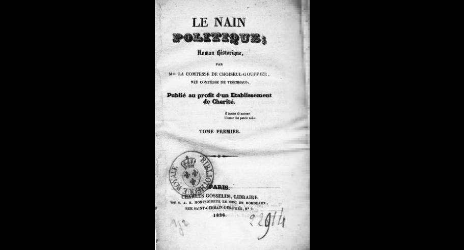 """Jau galima originalo (prancūzų) kalba internete skaityti ir S. Tyzenhauzaitės knygos """"Politikos nykštukas"""" pirmąjį tomą"""
