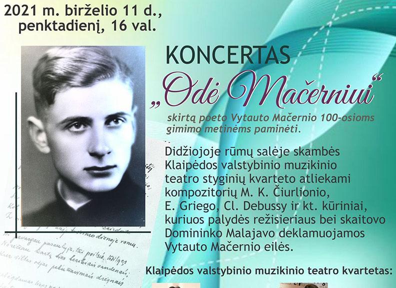 """Žemaičių dailės muziejuje – koncertas """"Odė Mačerniui"""""""